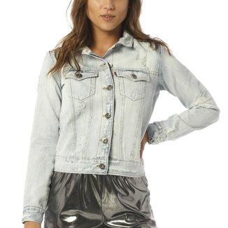Jaqueta Jeans Denim Zero com Rasgos 99e057ff85c