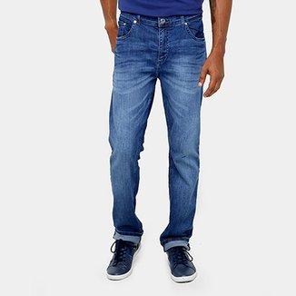 7f9bbc265981a Calça Jeans Lacoste Slim Fit Lavado Masculina