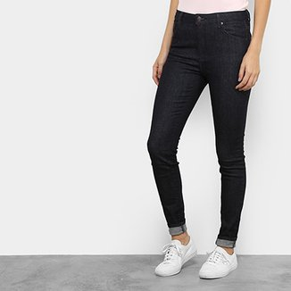 95c83ca6a8938 Calça Jeans Skinny Lacoste Cintura Média Feminina