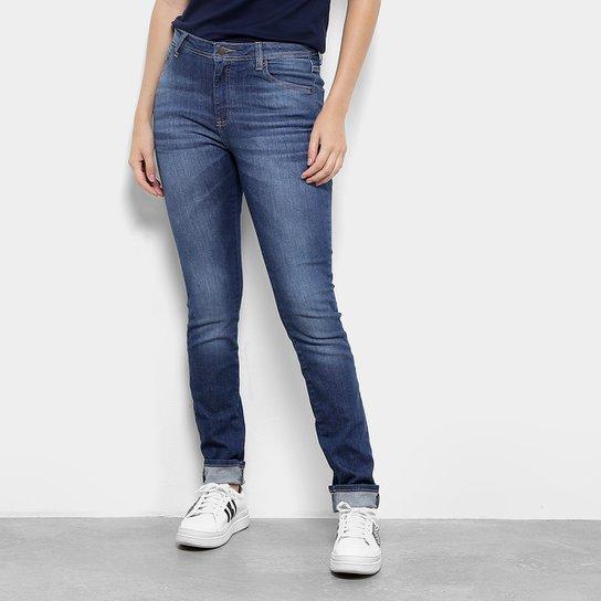 289ad8448bf28 Calça Jeans Skinny Lacoste Estonada Cintura Média Feminina - Azul ...