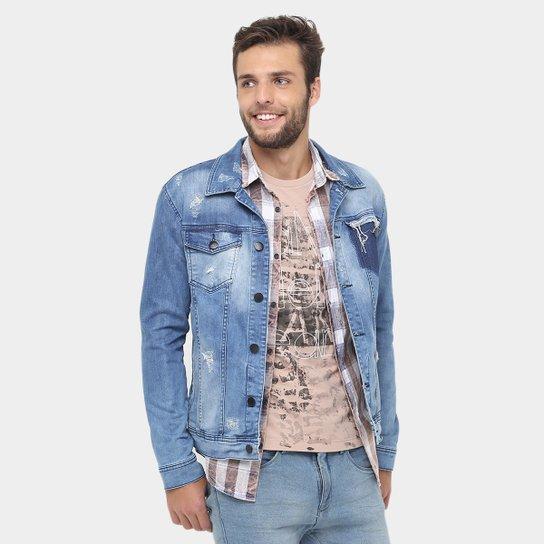 f1b06ddb41253 Jaqueta Jeans Calvin Klein Stone Estampada - Compre Agora