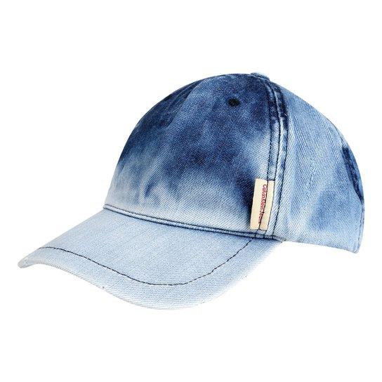 Boné Calvin Klein Aba Curva Jeans Logo Masculino - Compre Agora ... 62bf2fe3c02
