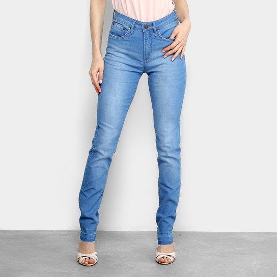 2a53bbafd Calça Jeans Slim Calvin Klein Five Pockts Rise Cintura Média Feminina -  Azul Claro