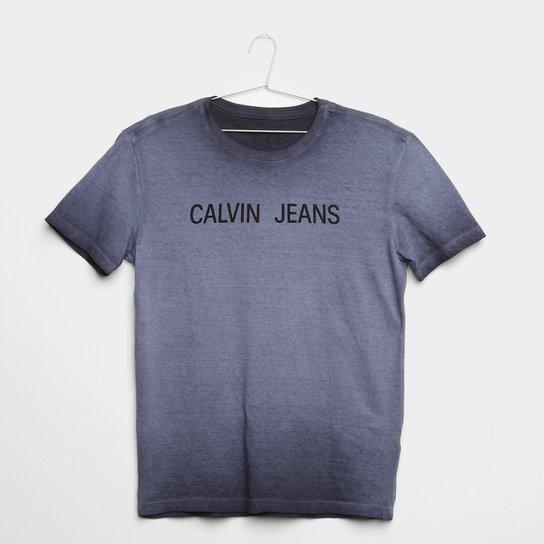 af826ea0d Camiseta Infantil Calvin Klein Degradê Logo Masculina - Cinza ...