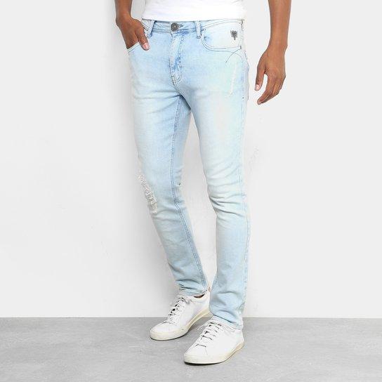 a86ca97ed Calça Jeans Skinny Cavalera Delavê Stone Masculina - Jeans   Zattini