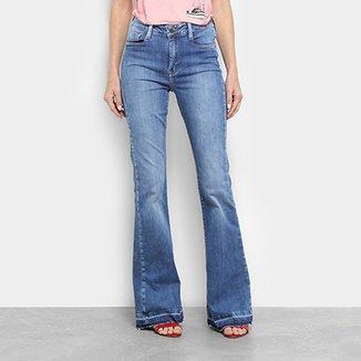 b401f9ef45 Calça Jeans Flare Carmin Cintura Média Feminina