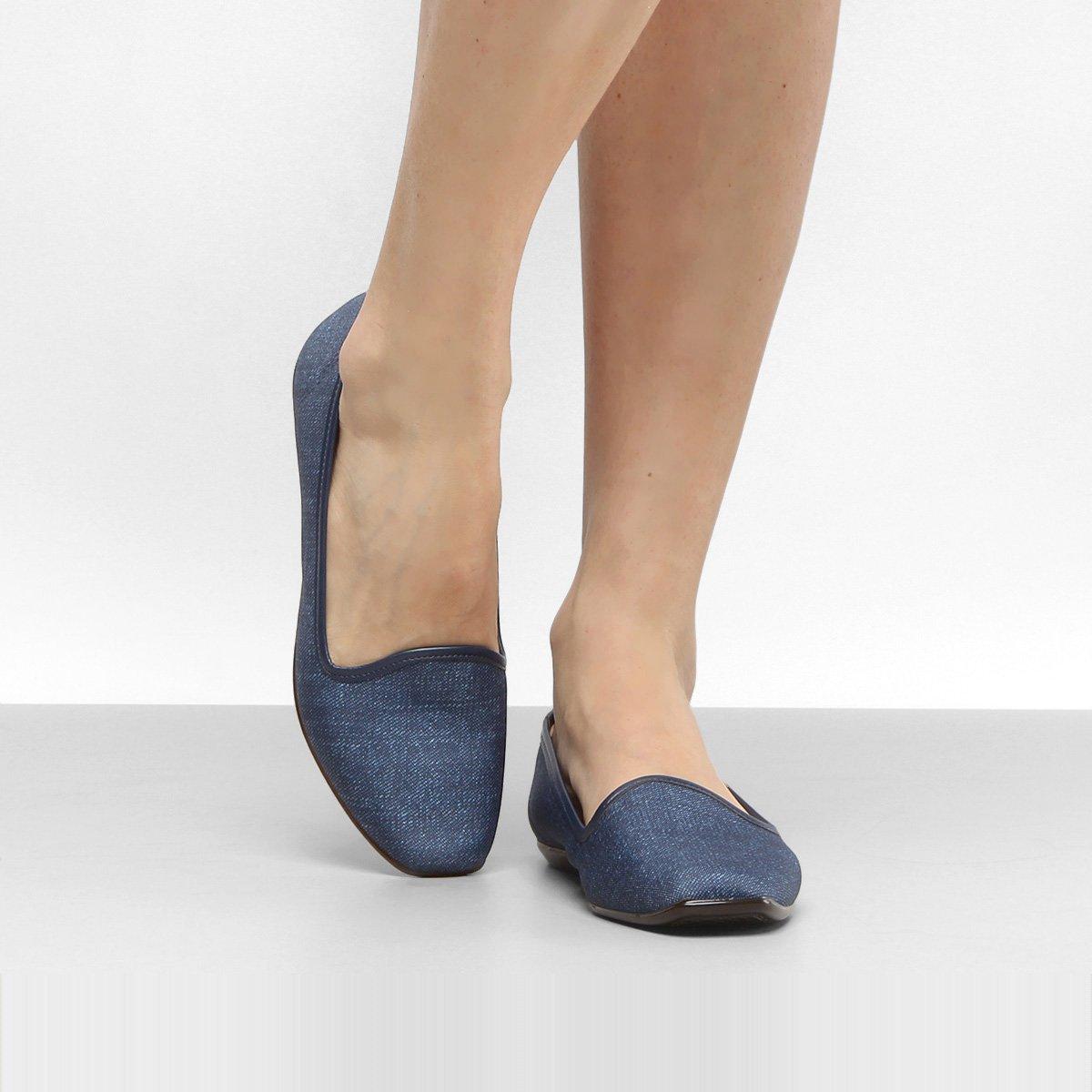 700d0d27c9 Slipper Moleca Jeans Feminino
