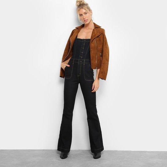 ea107737d8 Macacão Jeans Maria Filó Flare Botões Feminino - Compre Agora