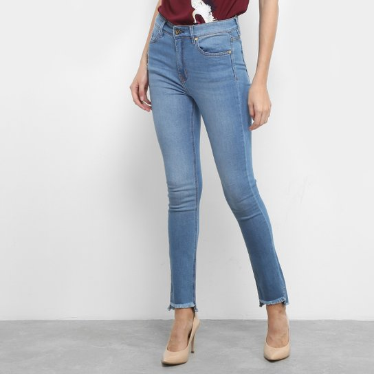 22d9bd1b4 Calça Jeans Skinny Maria Filó Barra Desfiada Cintura Média Feminina - Jeans