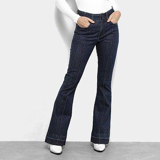 10745f0ba Calça Jeans Flare Maria Filó Nervura Cintura Média Feminina