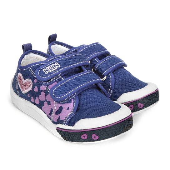 9cfd51140a Tênis Infantil Klin Toy Jeans Feminino - Azul Escuro - Compre Agora ...