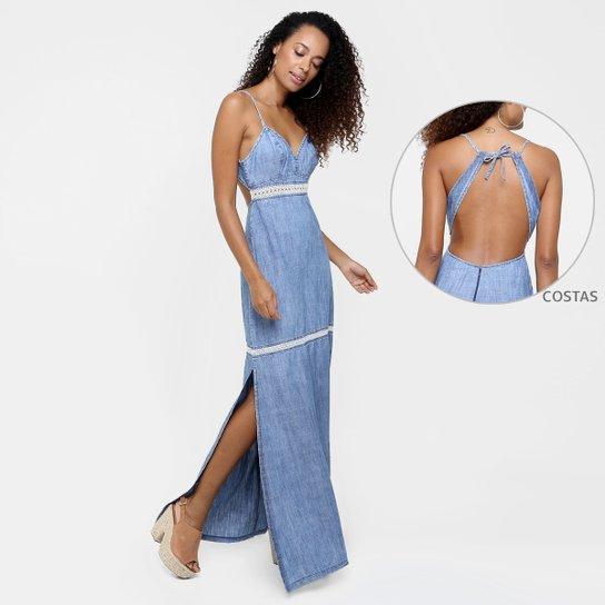 75605c867 Vestido Colcci Longo Recorte Costas Renda - Compre Agora