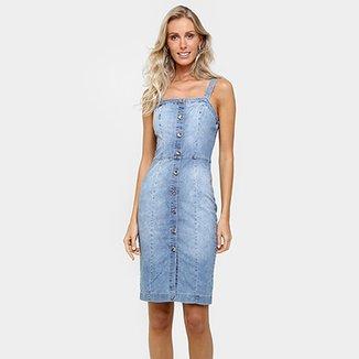 1817b450e Vestido Colcci Jeans Midi Botões