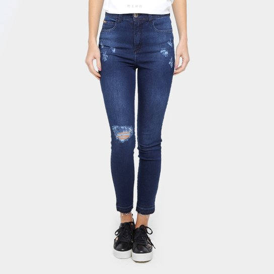 ef5aa3422 Calça Jeans Skinny Colcci Base Karen Rasgada Cintura Alta Feminina - Jeans