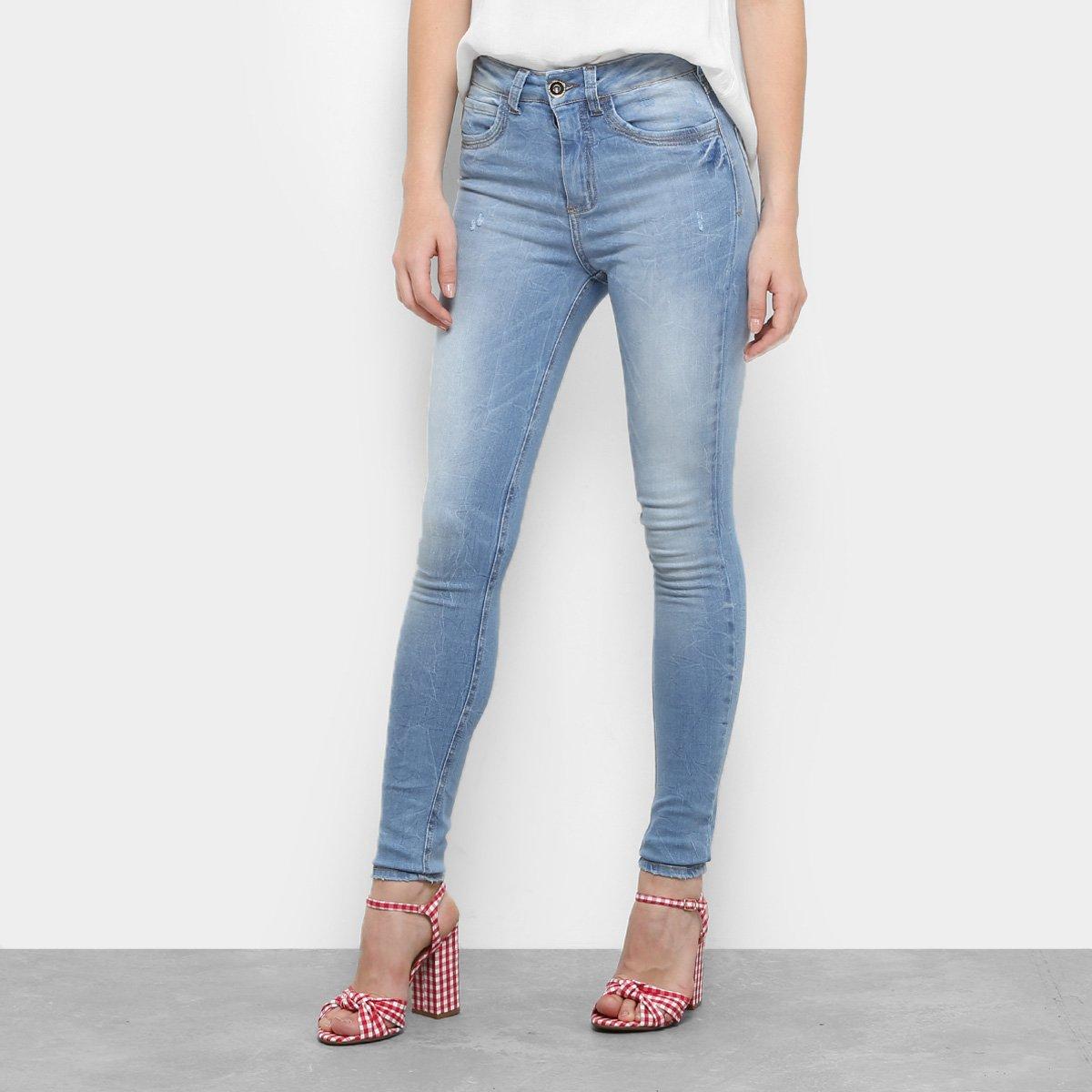 868a30044 Calça Jeans Skinny Colcci Bia Estonada Cintura Alta Feminina ...