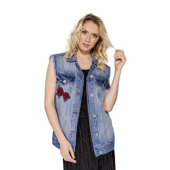 Colete Jeans Boyfriend Bordado Colcci - Jeans - Compre Agora  373f83ff8cb
