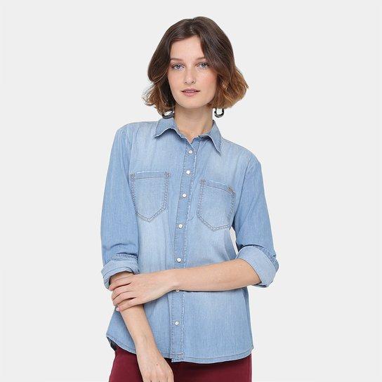 270104b95e Camisa Jeans Colcci Manga Longa Feminina - Compre Agora