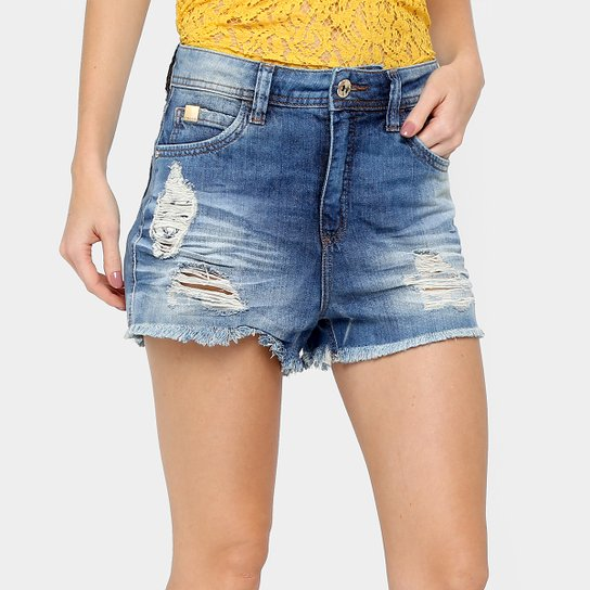 23ce1d589 Short Jeans Colcci Índigo Rasgos Feminino | Zattini