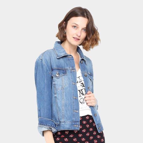 Jaqueta Jeans Colcci Indigo Estonada Feminina - Compre Agora  3f9e63383b668