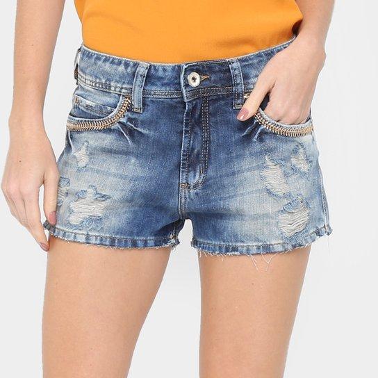 496815366 Short Jeans Colcci Indigo Rasgado Feminino | Zattini