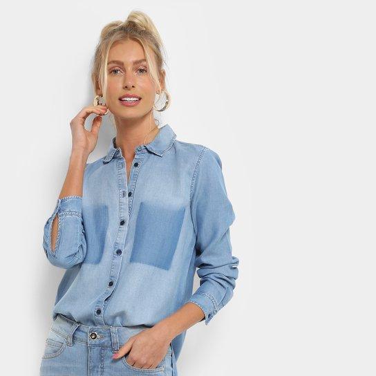 Camisa Colcci Manga Longa Com Bolso Feminina - Compre Agora  6a807165bad2c