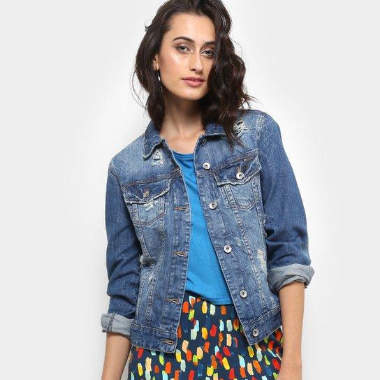 Jaqueta Jeans Colcci Bordado Rasgos Feminina - Compre Agora  eb82a6825ae2a