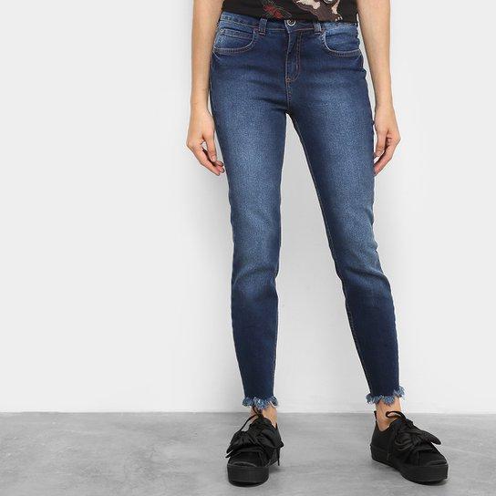 d9cfe7cfb Calça Jeans Skinny Colcci Base Cory Barra Desfiada Cintura Alta Feminina -  Jeans