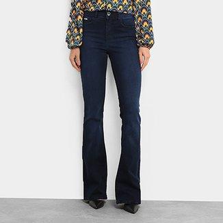 0e4438acb Calça Jeans Flare Colcci Lavagem Escura Cintura Alta Feminina