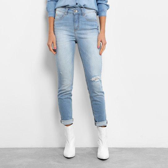 72aeaea141 Calça Jeans Skinny Colcci Base Kim Rasgada Cintura Alta Feminina - Jeans
