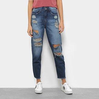 8b9c9f38a3 Calça Jeans Colcci Reta Rasgada Suki Feminina