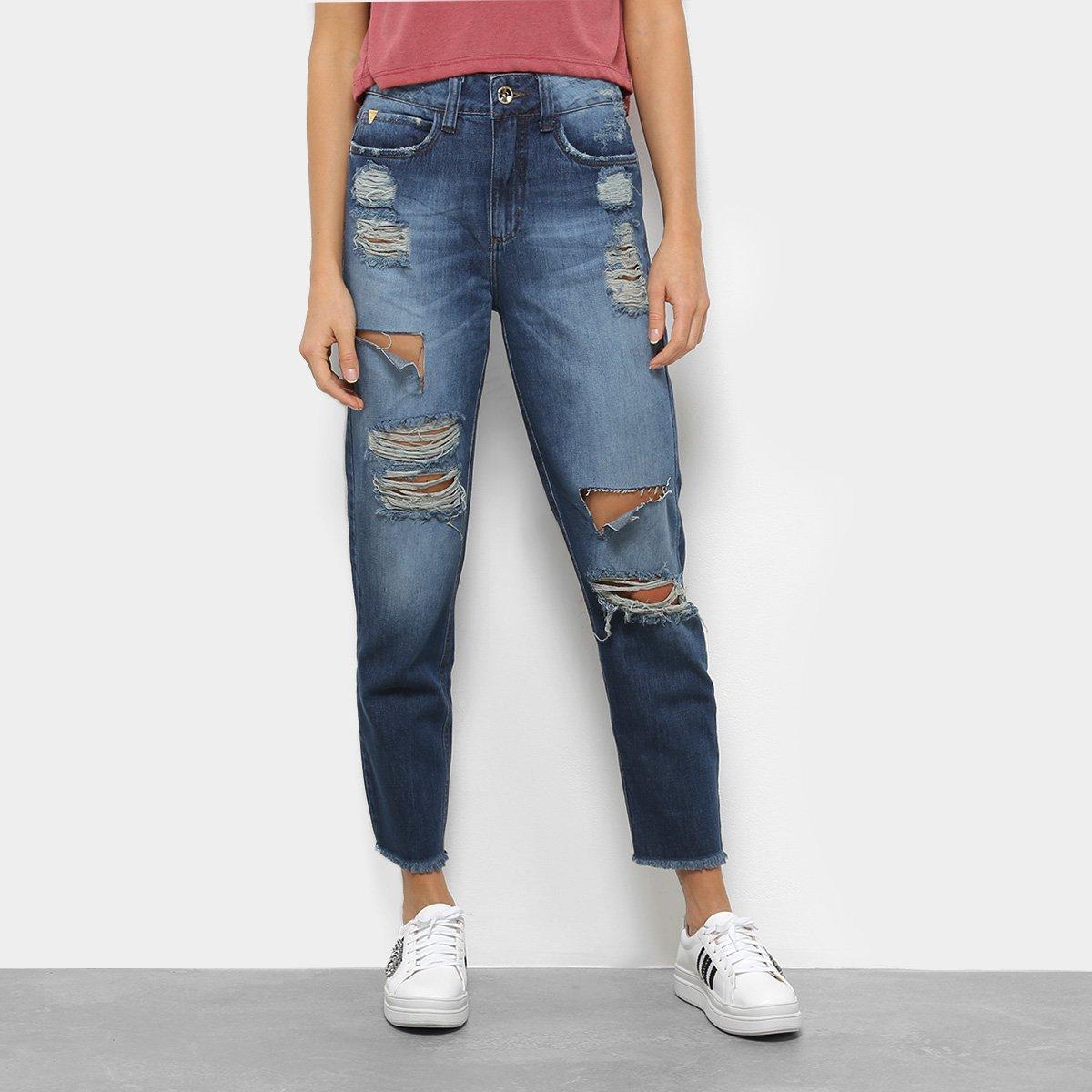 18a901452 Calça Jeans Colcci Reta Rasgada Suki Feminina