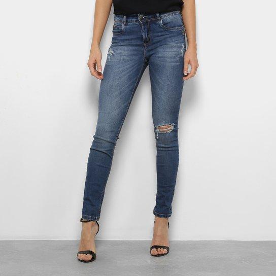 9f4d20e17 Calça Jeans Skinny Colcci Fátima Cintura Média Feminina - Azul Escuro