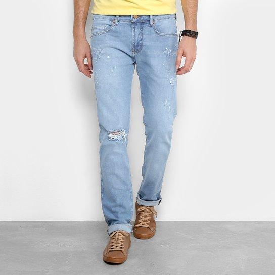 b3da32ac5 Calça Jeans Skinny Colcci Estonada Alex Masculina - Azul Claro ...