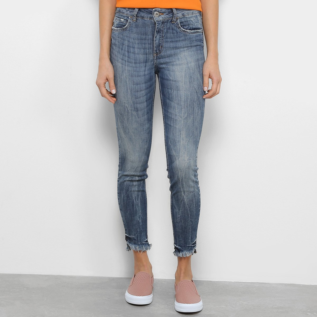 Calça Jeans Skinny Colcci Bia Estonada Feminina