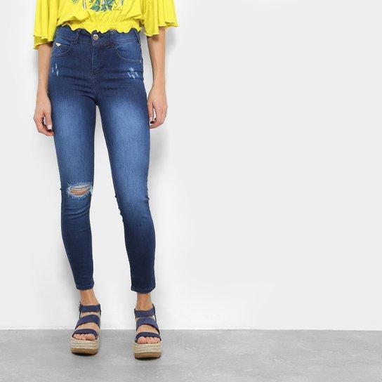64bdcf24e Calça Jeans Skinny Colcci Estonada Cintura Média Feminina - Compre ...