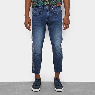 8f438689b Calça Jeans Slim Colcci John Cropped Estonada Masculina