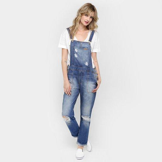eccc02d0fc Macacão Jeans Forum Rasgado Botões - Compre Agora