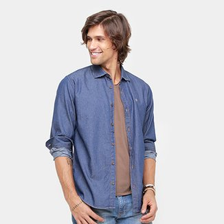 Camisa Jeans Forum Super Escura Masculina 8ed97a391e60d