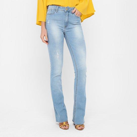 3286aa37c Calça Jeans Flare Forum Marisa Indigo Cintura Média Feminina - Jeans