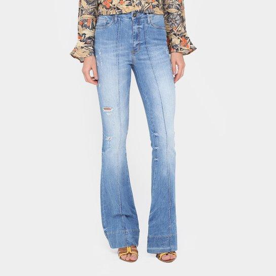 21043f631 Calça Jeans Flare Forum Marisa Cintura Média Feminina - Compre Agora ...