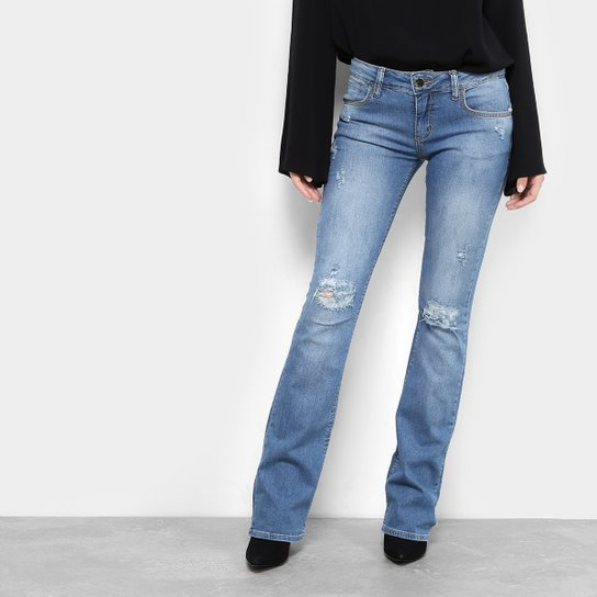 b30b44073 Calça Jeans Flare Forum Rasgada Veronica Feminina | Zattini