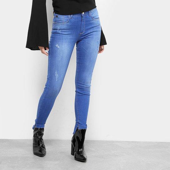 68da0a06f Calça Jeans Skinny Forum Marisa Barra Assimétrica Feminina | Zattini