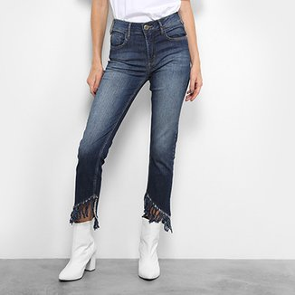 28cefa458 Calça Jeans Forum Marisa Cropped Desfiada Feminina