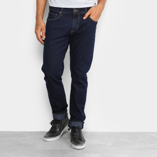Calça Jeans Slim Forum Paul Slim Escura Elastano Masculina - Jeans ... 156ede75588