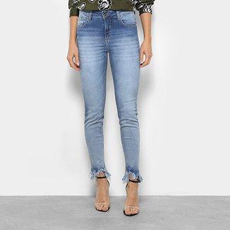 Calça Jeans Skinny Forum Marisa Barra Desfiada Cintura Média Feminina 28d8747adc9