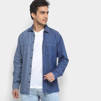 acef11392 Camisa Jeans Forum Smart Masculina