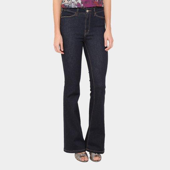 594a02ffc1 Calça Jeans Flare Ellus High Escura Com Pesponto Cintura Média Feminina -  Jeans