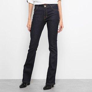 df232f323b Calça Jeans Flare Ellus Pespontos Cintura Média Feminina