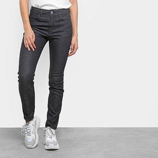 28b4b7185 Calça Jeans Skinny Ellus Lavagem Escura Cintura Alta Feminina