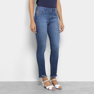2edb22233645a Calça Jeans Skinny Ellus Elastano Higher Etiqueta Couro Cintura Média  Feminina. Ver similares. Confira · CalçaJjeans Ellus Skinny Cintura Média  Feminina